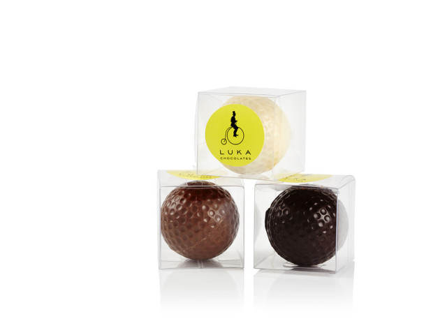 Golf Balls with Belgium praline (Milk, White or Dark Chocolate) Wyong