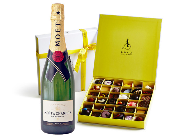 Moet & Chandon and Gift Box 36 piece Wyong