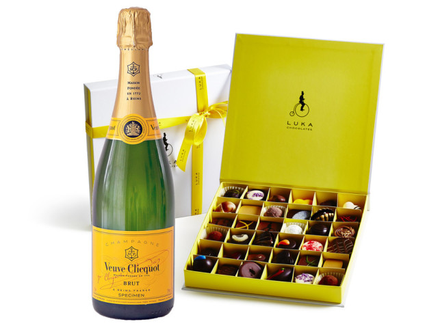 Veuve Cliquot and Gift Box 36 piece Wyong