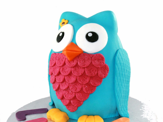 3D Owl Birthday Cake Marrickville