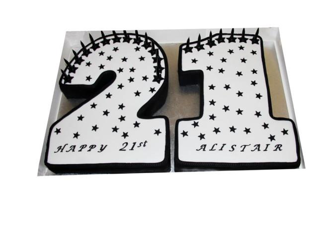 21st Starry Birthday Cake Marrickville