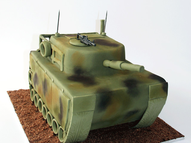 Army Tank 3D Cake Marrickville