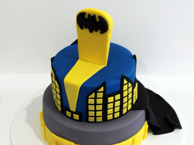 Batman 2 Tier Kids Birthday Cake Marrickville