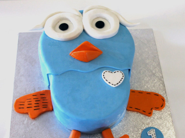 Blue Owl 3D Cake Marrickville