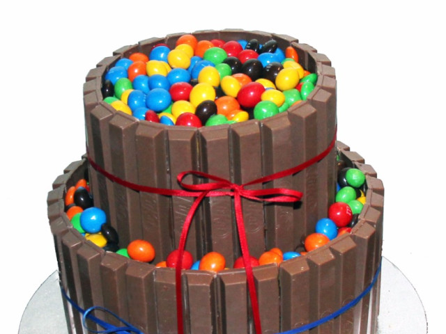 Buckets of M&M's and KitKat Cake Marrickville