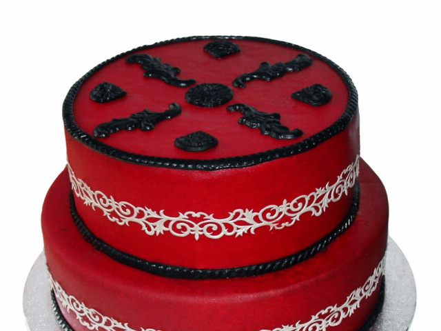Chinese Inspired 2 Tier Cake Marrickville