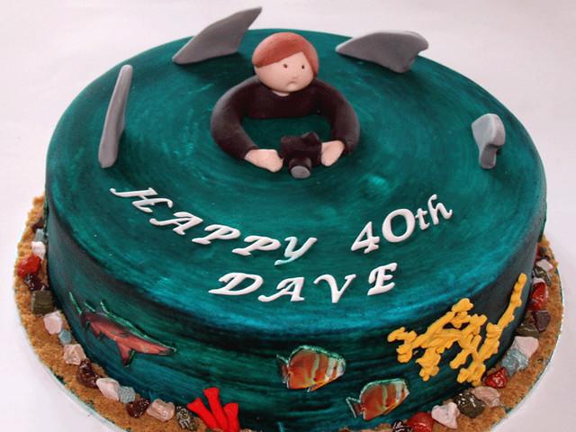 Circling Sharks 3D Birthday Cake Marrickville