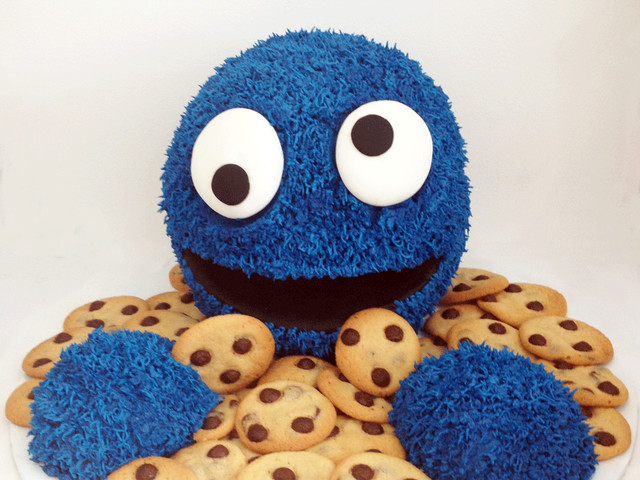 Cookie Monster 3D Cake Marrickville
