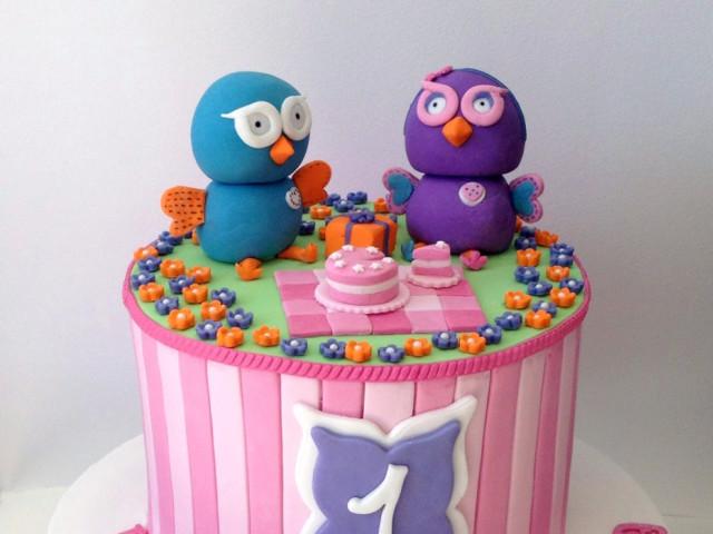 Cute Owls 3D Birthday Cake Marrickville