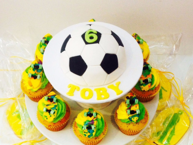 Football and Skates Cake and Cupcakes Marrickville