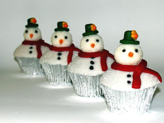Frosty the Snowman Cupcakes Marrickville