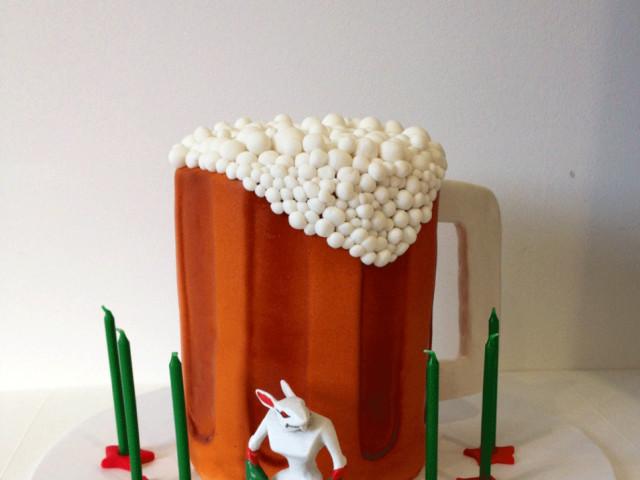 Frothy Beer 3D Birthday Cake Marrickville