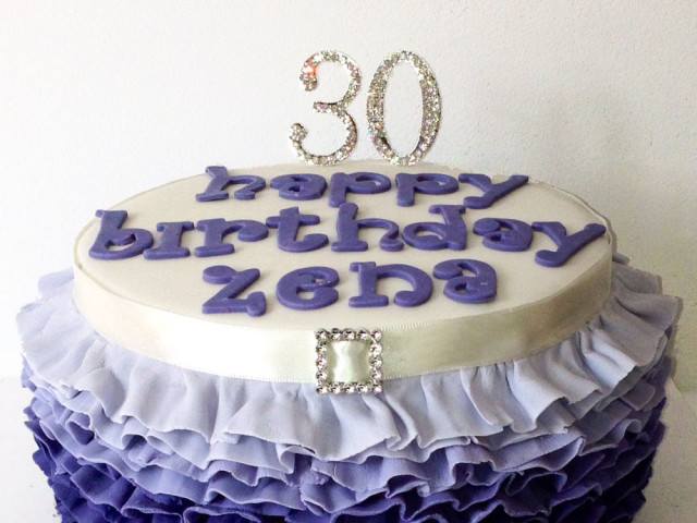 Lavender Velvet Birthday Cake Marrickville