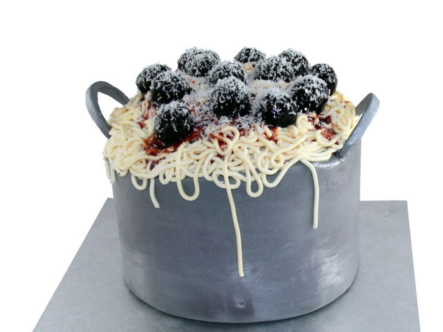 Meatballs and Spaghetti 3D Cake Marrickville