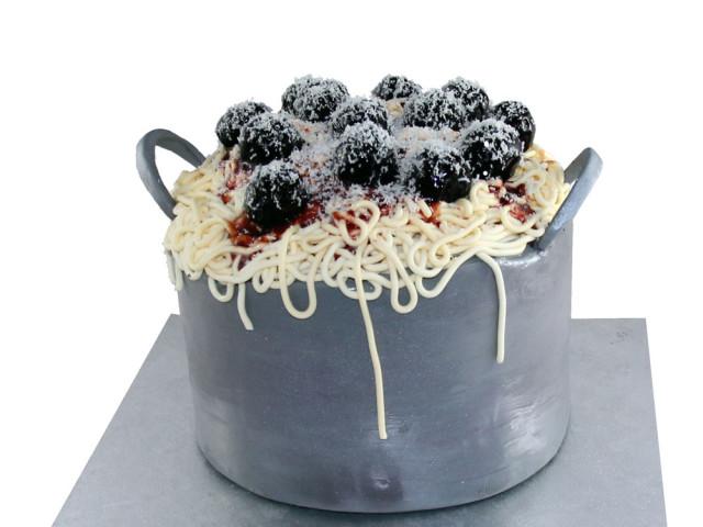Meatballs and Spaghetti 3D Cake Marrickville