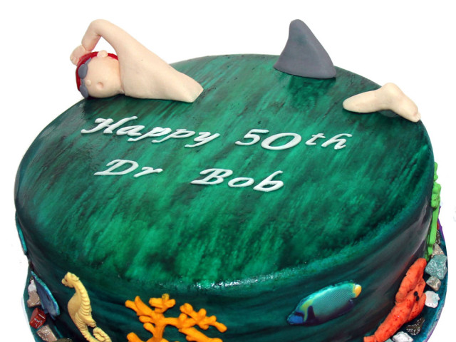 Ocean Swimming 3D Birthday Cake Marrickville
