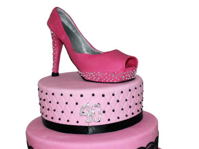 Pink Shoe 3 Tier 3D Cake Marrickville