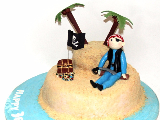 Pirate Island 3D Birthday Cake Marrickville