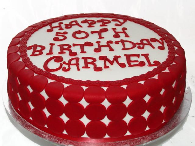 Red Chips Birthday Cake Marrickville