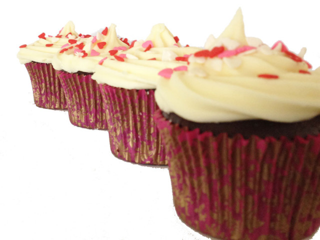 Red Velvet Cream Frosting Cupcake Marrickville