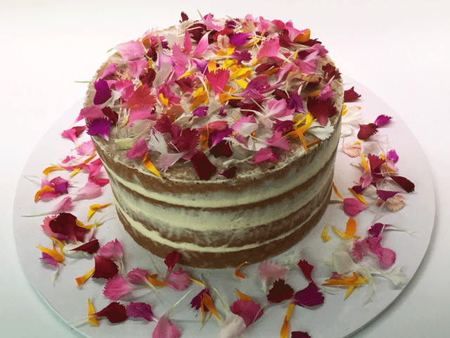Rosy Petals Semi Naked Cake Marrickville