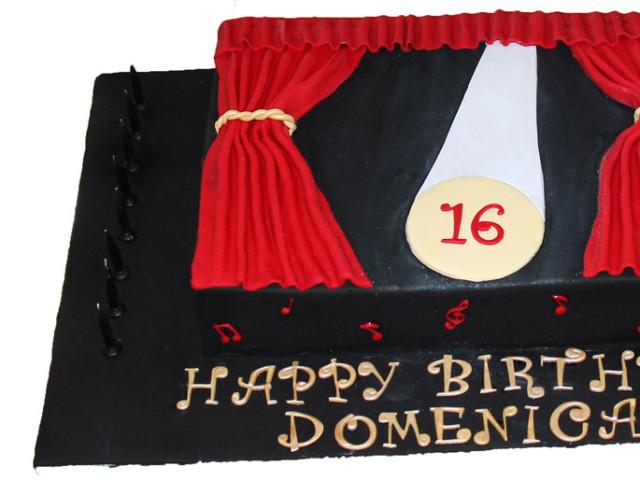 Stage and Spotlight Birthday Cake Marrickville