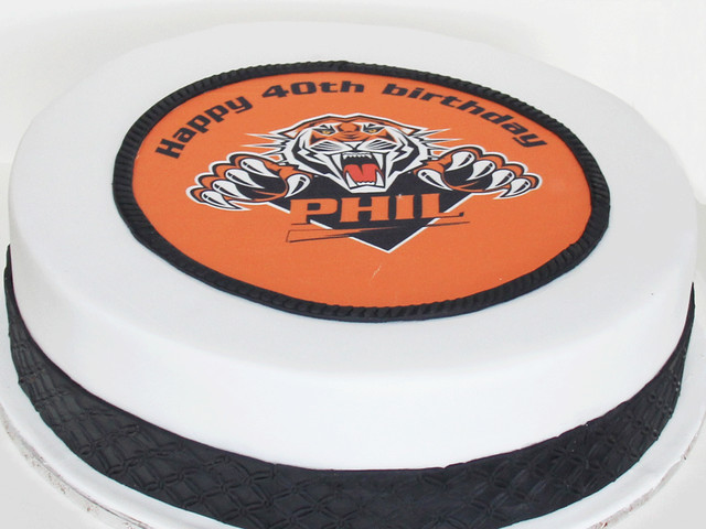 Tigers Rugby Birthday Cake Marrickville