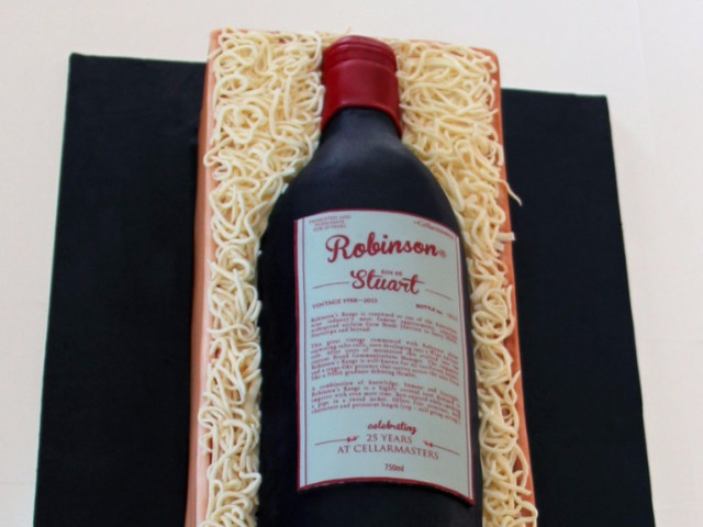 Wine 3D Birthday Cake Marrickville