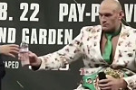 Tyson Fury refuses bottle of water...