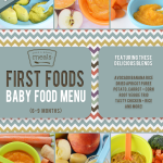 First Foods (6-9+ Months) Spring Baby Food Menu