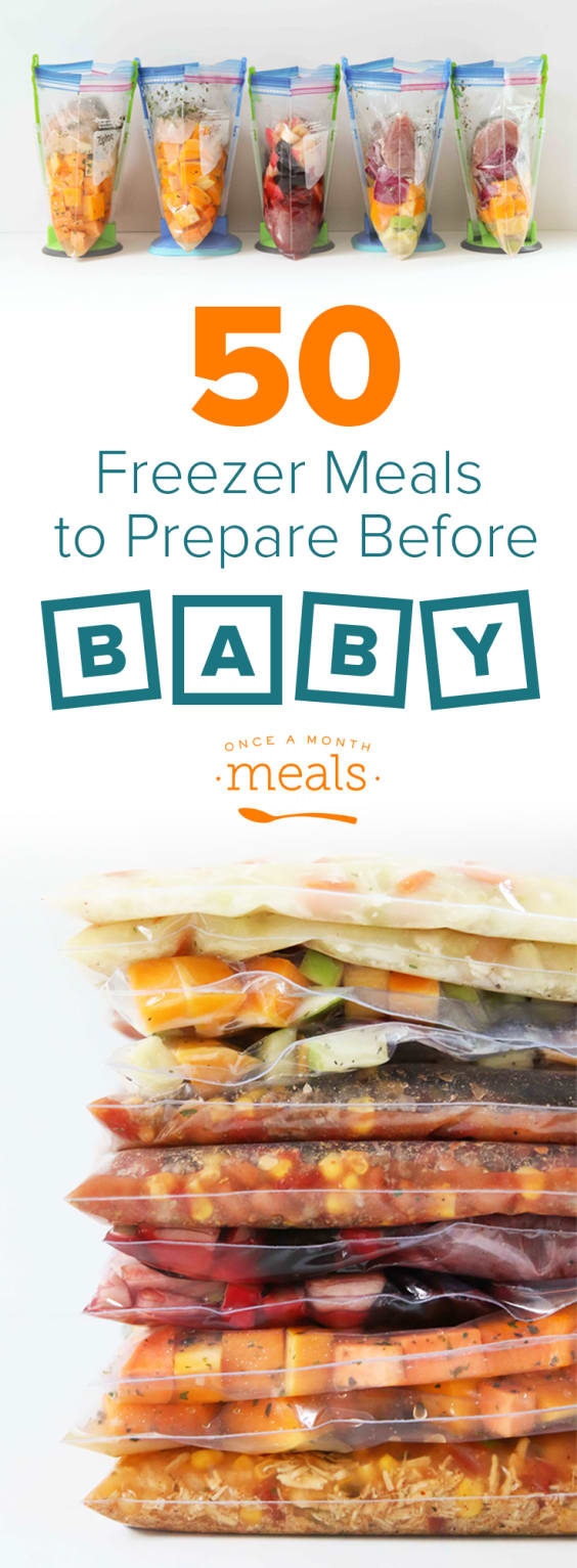 50 Freezer Meals Before Baby Arrives - Our favorite easy recipes for easy assembly - simple dump recipes, slow cooker, and Instant Pot!