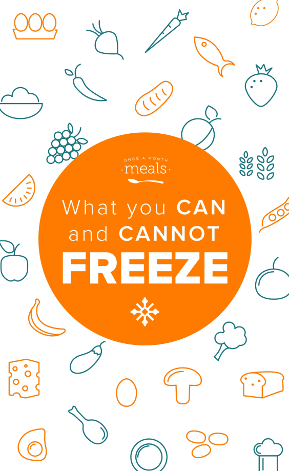 What You Can and Cannot Freeze - The rules aren't as rigid as you think! Here is our list of foods that freeze well and foods that don't!