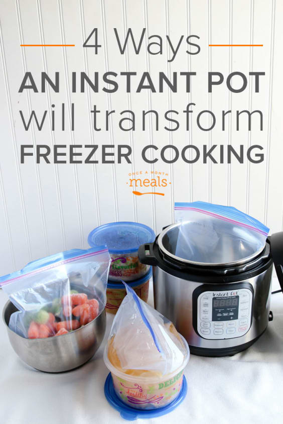 Transform Your Freezer Cooking with an Instant Pot - saving time, cooking from frozen and eliminating texture issues are a few ways that the Instant Pot (programmable pressure cooker) transforms freezer cooking.