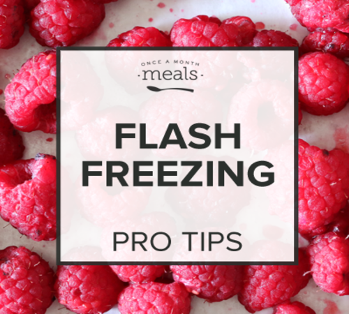 Flash Freezing - Pro Tip