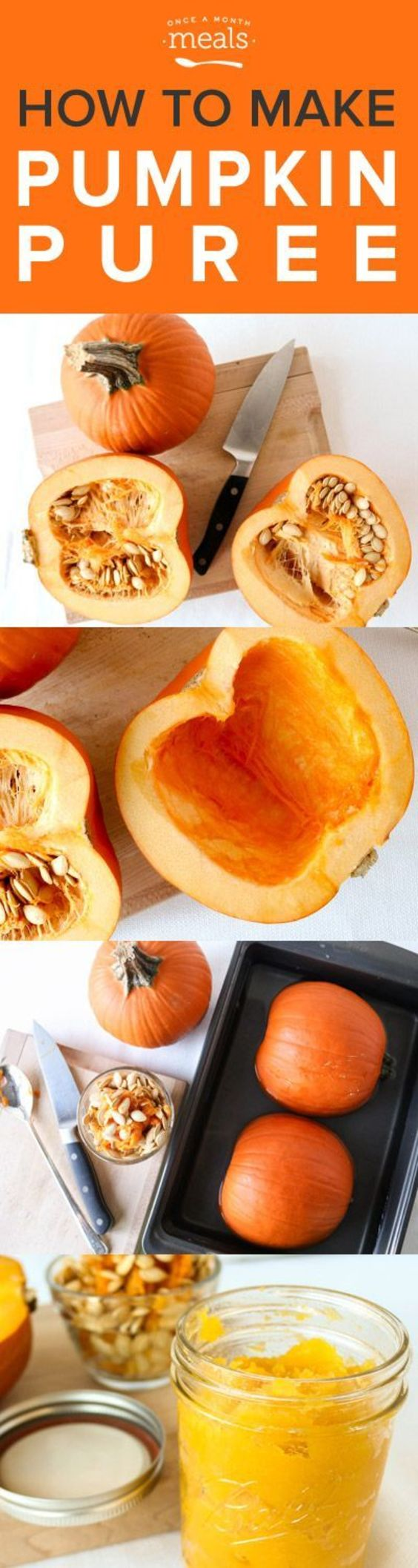 It is so simple and inexpensive to make your own pumpkin puree. Stock up at your local market or pumpkin patch while they are in season!