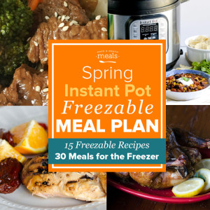 Spring Instant Pot Freezer Menu Vol. 3 - Freezer Meal Plan