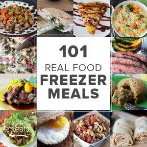 101 Real Food Freezer Recipes, Square