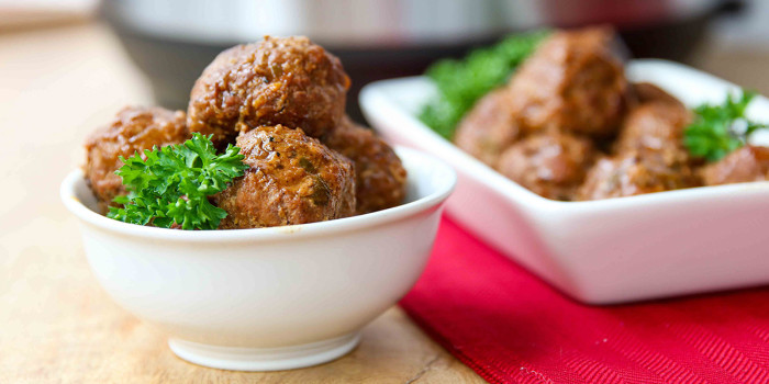 Instant Pot Paleo Apple Glazed Turkey Meatballs - Freezer Meal Recipe