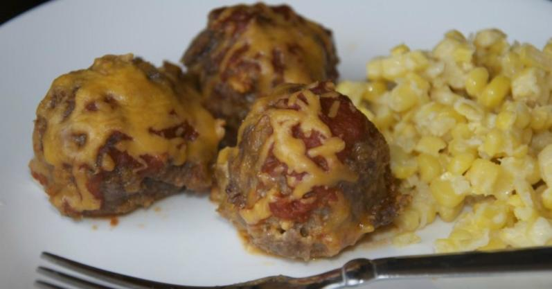 Enchilada Meatballs freezer meal recipe