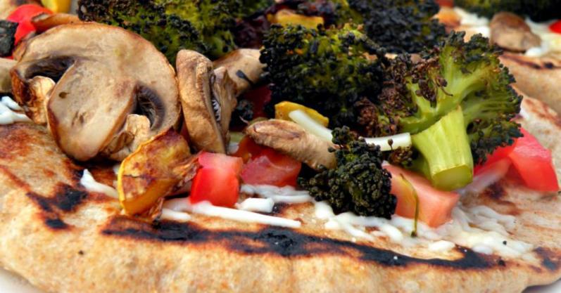 Grilled Veggie Flatbread Pizzas - freezer meal recipe