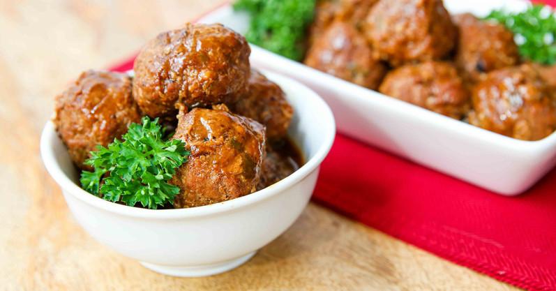 Paleo Apple Glazed Turkey Meatballs - Freezer Meal Recipe