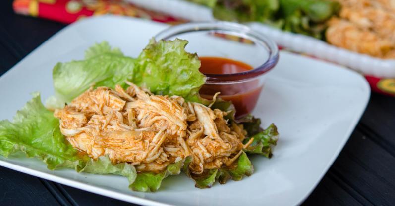 Buffalo Chicken Lettuce Wraps - Freezer Meal Recipe