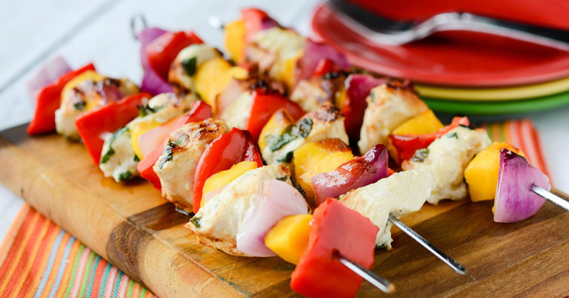 Sweet Summer Mango Kebabs