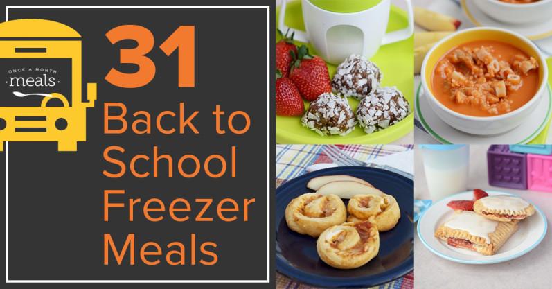 31 Back to School Freezer Meals