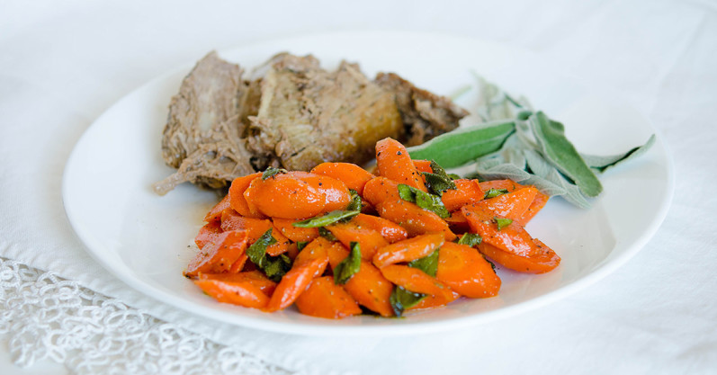 Sautéed Carrots with Sage by Once A Month Meals