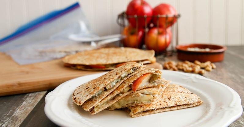 Apple Walnut Gorgonzola Quesadillas