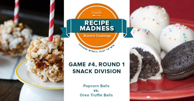 Recipe Madness Bracket Challenge Round 1