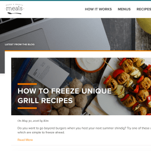 Freezer Meal Planning Blog