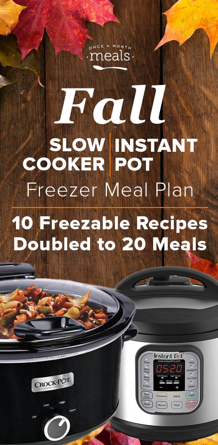 2-n-1 Fall Instant Pot or Slow Cooker Menu