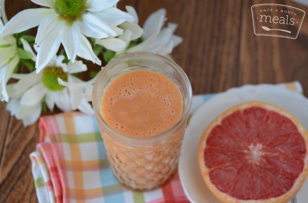 Summer Smoothies - Carrot Mango Grapefruit Smoothie